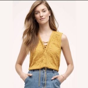 Anthropologie Maeve 4 Marigold Sleeveless Top